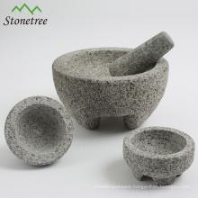 Mexican Molcajete Stone Mortar & Pestle
