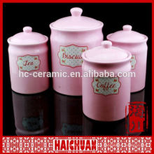 cow painted ceramic canister set