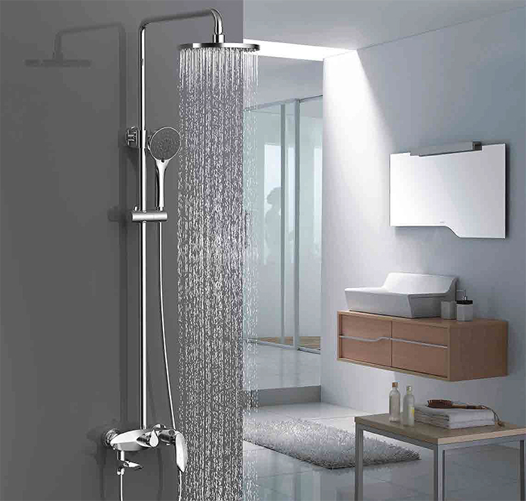 bathtub and shower faucet