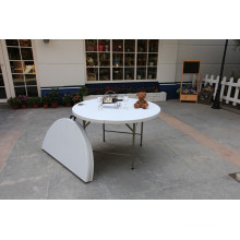 Outdoor Furniture Portable 4ft Plastic Folding Half Round Table for Party Wedding Banquet and Other Events (HQ-ZY122)