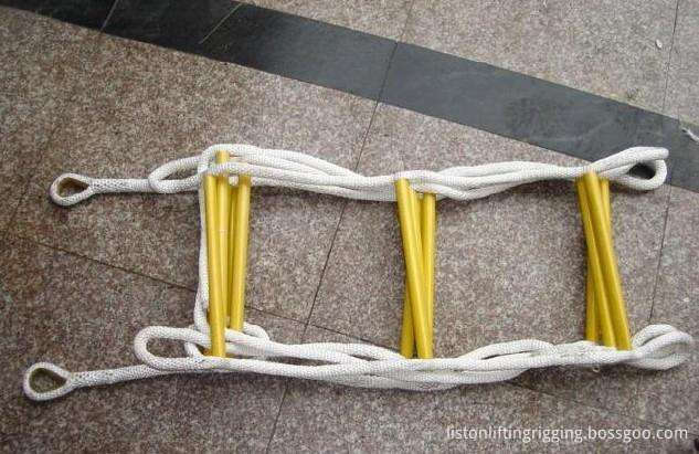 Portable climbing rope ladders
