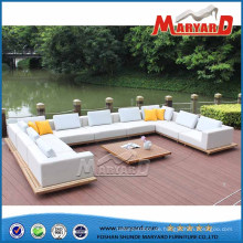 Moderner im Freien gepolstertes Gewebe-Sofa-Set