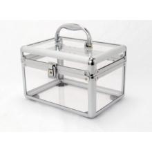 Caja de aluminio transparente de acrílico