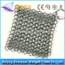 Cast Iron Cleaner Stainless Steel Chainmail Clean Cookware Skillet Scrubber