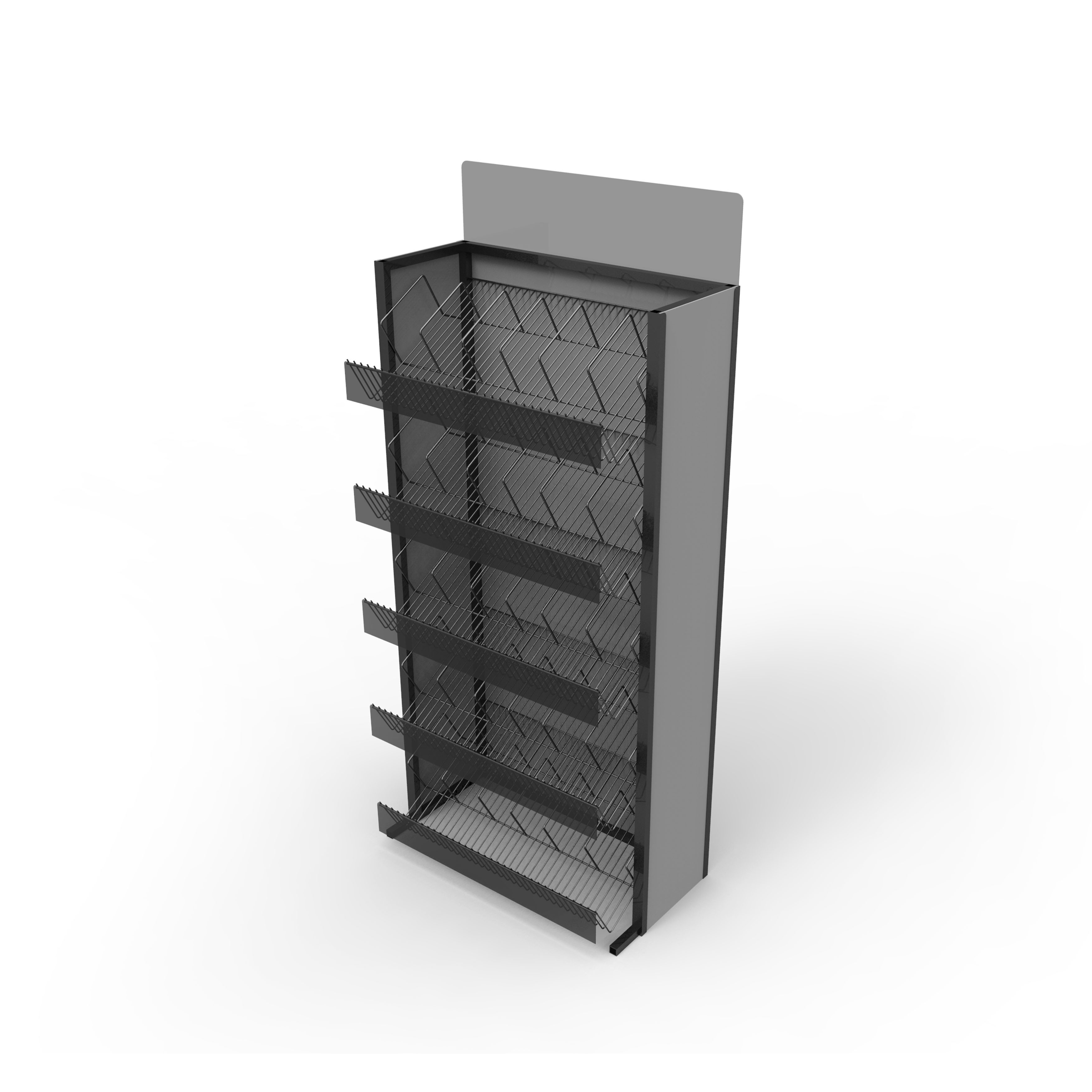 Stable Wire Shelf Display Stand