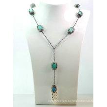 Colgante natural del collar de la turquesa de la piedra preciosa de la hematita DIY de la nueva joyería del diseño