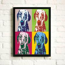 Hunde gedruckt Stoff Pop Arts