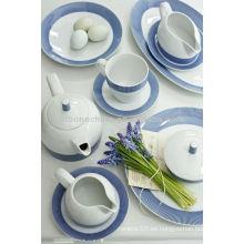 Royal copenhagen meissen estilo fachada de barro de cerámica porcelana de té de cerámica