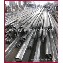 Poteaux électriques en acier galvanisé octogonale