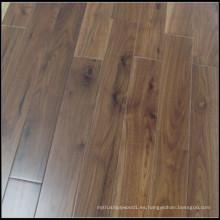 Suelo de madera de Hadwood sólido americano de la nuez negra