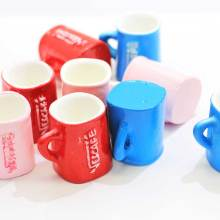 New Products Resin 3D Coffee Cup Cabochons Kawaii Resin Cafe Cup Coffee Drink Charms Pendants DIY Jewelry Making Supplier