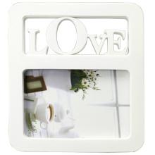 Weiße beliebte Kunststoff Foto Frame Liebe für Geschenke