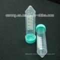 Tubo de centrífuga cônico estéril de plástico PP