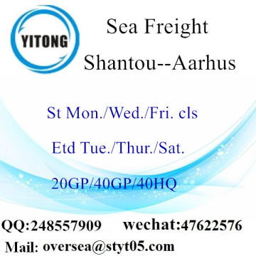 Shantou Port Sea Freight Shipping To Aarhus