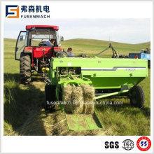 Square Hay Baler Mounted on Tractor