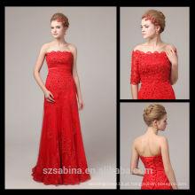 6813 Cheap off-the-shoulder vestido de noite de duas peças vestidos de noite longos rendas turcas ao atacado