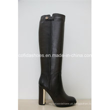 Botas de couro Qualtiy Black Fashion Leather Women