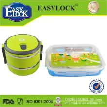 Doppelschicht Edelstahl stapelbar Bento Lunchbox