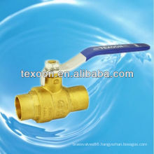 CXC fully welded lead free brass ball valves with lead free (sweat*sweat)