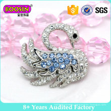 Custom High Quality Rhinestone Swan Shape Brooch