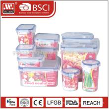 Suppermarket Hotsales Food Grade transparent 10pieces Kunststoff Lagerbehälter
