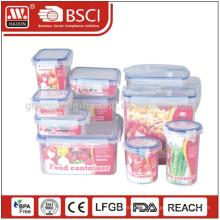 Suppermarket hotsales Food grade transparent 10pieces Plastic storage container