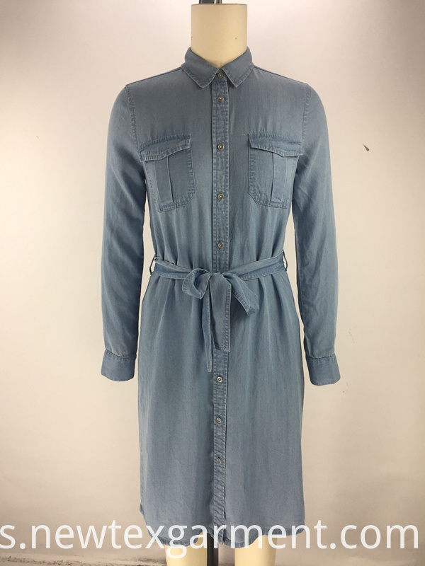 belt ladies shirt dress