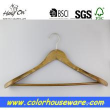 Broad shoulder wooden coat hanger