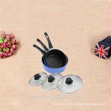 cast aluminium handle sauce pan set