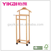 Natural Color Solid Wood Suite Valet Stand
