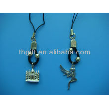 3D design metal mobile phone chain/ring with no colors