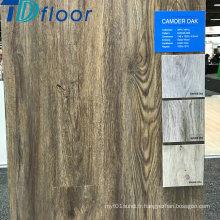 Plancher d'intérieur composé en plastique en bois de plancher de chêne de clic de WPC de 6.5mm profondément