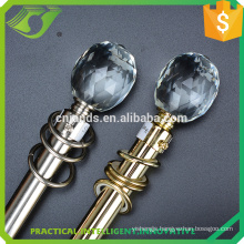 JNS crystal round curtain rod with bracket