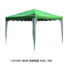 Tente de cadre en acier d'auvent de forme carrée verte (YSBEA0033)