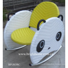 Lovely Panda Chair Hand Woven Baby Chair for Outdoor Use