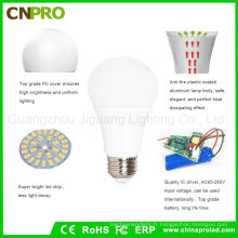 Meilleure vente 5W Inteligent Rechargeable LED Ampoule d'éclairage de secours
