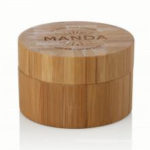 15/20/25/30/50/100ml aluminum bamboo cream jar cosmetic package cream jar with bamboo lid hot sale