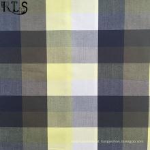 Poplin de algodão tecida de fios tingidos tecidos para vestuário camisa vestido Rlsc60-3