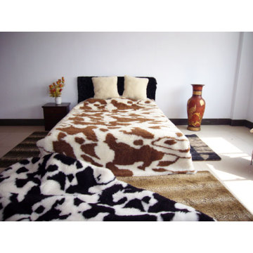 Jacquard Camel Natural Wool Mattress