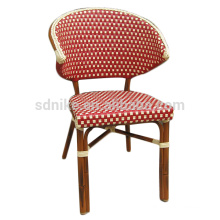 DC-(149) Modern wicker rattan red dining chair/ colorful bamboo chair
