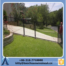 2015 hot sale sloping terrain steel fence with spear top and best quality