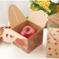 Kraft Paper Christmas Gift Box Apple com alças