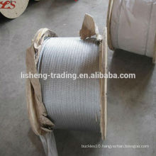 6x19+FC Galvanized steel wire rope for crane