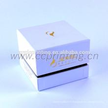 Boite cosmétique en carton de couleur blanche avec diviseur pour pots
