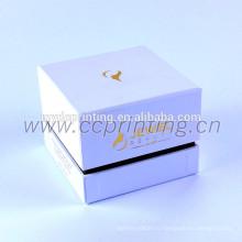 Белый цвет картон косметическая коробка с делителем для банок