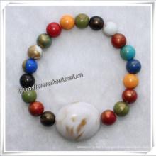 Bead Bracelet, Popular Handmade Plastic Bead Bracelet (IO-aj036)
