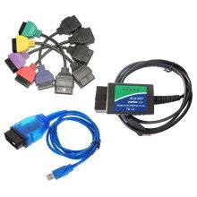 Novo para FIAT ECU Scan + Elm 327 com USB + Kkl VAG OBD2