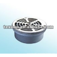 Chrome-plated copper stainless basket strainer for floor