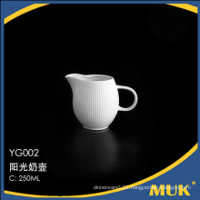 good quality stock wholesale flower design dining milk pot