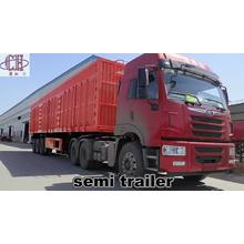 3 axles Strong box trailer